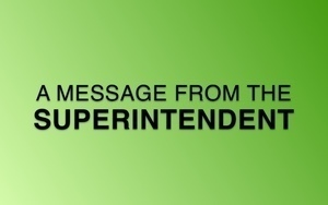 A Message from the Superintendent 4/18/2021